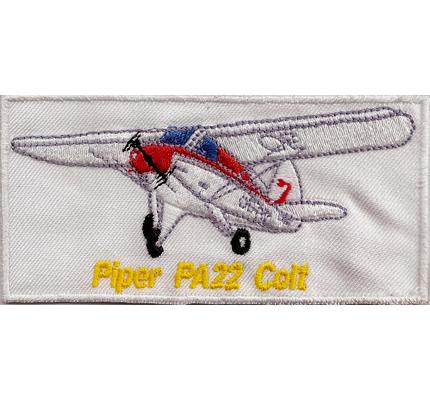 Piper PA22 Aircraft Modell Flugzeug  Beach Taylor Colt Aufnäher