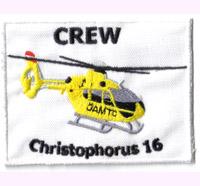 Helicopter Christophorus 16 Crew SAR RTH ÖAMTC, Modell Hubschrauber Aufnäher