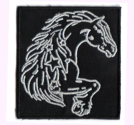 Lipizzaner, Pferd, Western, Reiten, Schabracke, Pferdedecke, Aufnäher, Aufbügler