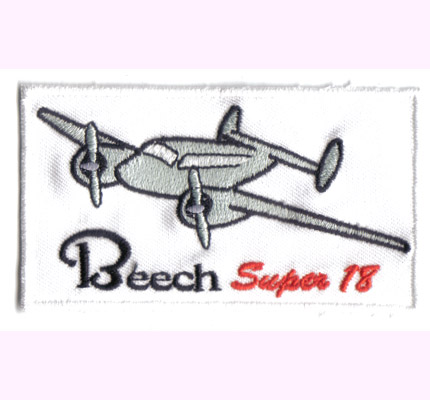 Beech Super 18 Modell, Flugzeug, Airforce, Aufnäher, Patch, Abzeichen