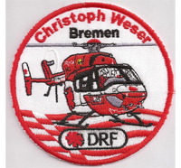 Helicopter Helikopter Christoph Weser Bremen DRF Luftrettung Aufnäher Patch