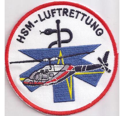 Helicopter Helikopter HSM Luftrettung DRF Hubschrauber Patch Aufnäher