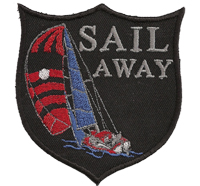 Sail Away Segeln Segeltörn Regatta Team Cup Polo T-Shirt Segelkleidung Aufnäher