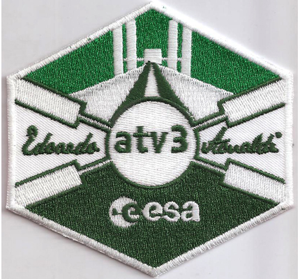 European Space Agency ATV3 ESA Eduardo Amaldi Patch Aufnäher