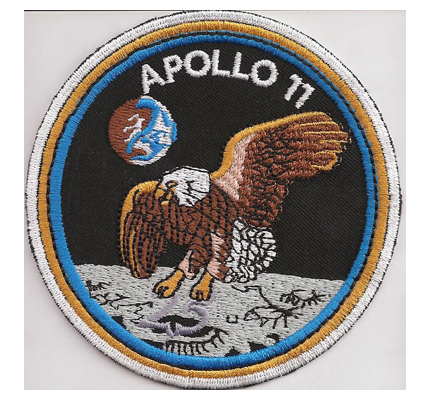 Apollo 11 Eagle LM Mondlandung Moon Landing Aufnäher 1969-1994 25 Years