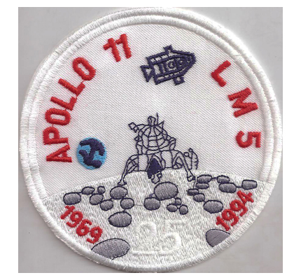 LM5 Apollo 11 LM Mondlandung Moon Landing Aufnäher 1969-1994 25 Years