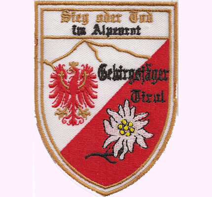 Gebirgsjäger Tirol Jagdkommando, Jäger, Bundesheer Österreich Austria Abzeichen