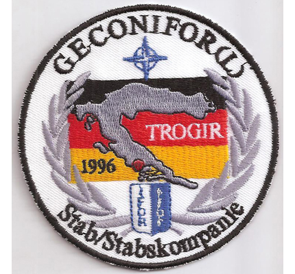 IFOR GECONIFOR Stabskompanie Trogir Balkankrise Abzeichen Aufnäher Patch