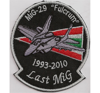 Hungarian Airforce Patch Luftwaffe Ungarn Last MIG 29 Fulcrum Pilot Aufnäher