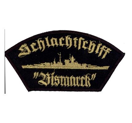 BISMARK Schlachtschiff Deutsche Marine German Navy Gold Patch Abzeichen