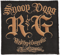 RHYTHM & GANGSTA, R$G, Snoop Dogg Street break dance, RAP, Cap, T-shirt Aufnäher