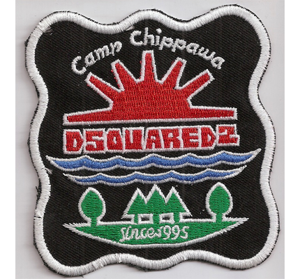 Dsquared2 Camp Chippawa since 1995 Camp a lot Adventure Aufnäher Patch