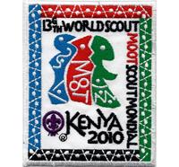 Pfadfinder Kenya 2010 Worldscout boyscout mondial Aufnäher Abzeichen