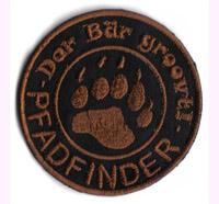 Pfadfinder Der Bär groovt Halstuch Boyscout Lager Abzeichen Aufnäher Patch