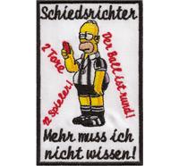 Homer Simpson Anti Schiri Schiedsrichter Pfeife Fussball Fanclub Aufnäher Patch