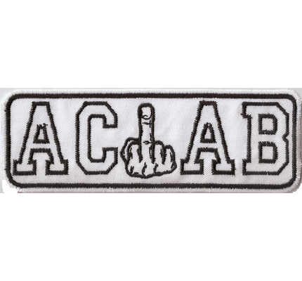 ACAB Ultras Mittelfinger Anarchy Hooligans Hardcore Fightware Aufnäher bl