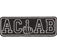 ACAB Ultras Mittelfinger Anarchy Hooligans Hardcore Fightware Hatebreed Aufnäher