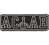ACAB Ultras Mittelfinger Anarchy Hooligans Hardcore Fightware Hatebreed Aufnäher