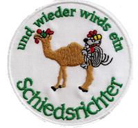 Anti Schiedsrichter Schiri Kamel Camel Pfeife Fussball Trikot Aufnäher Patch