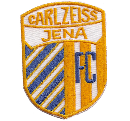 FC Carl Zeiss Jena Club Trikot Fanclub Trikot Aufnäher Abzeichen Patch