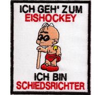 Anti Schiedsrichter Blinder Blindenhund Pfeife Fussball Eishockey Aufnäher