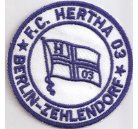 FC Hertha 03 Berlin Zehlendorf Fussball Trikot Fan BSC Aufnäher Patch