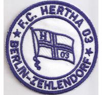 FC Hertha 03 Berlin Zehlendorf Fussball Trikot Fan BSC Aufnäher Patch