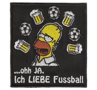 Homer Simpson Ich liebe Fussball Duff Beer Bier Fanclub Aufnäher Patch