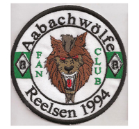Borussia Mönchengladbach Fanclub Aabachwölfe Reelsen Aufnäher Patch