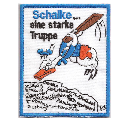 Schalke..eine starke Truppe Schalke S04 Trikot Kappe Cap Aufnäher Patch