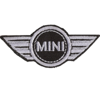 BMW MINI Cooper One Cabrio Fussmatte Sitzbezug Aufnäher Abzeichen