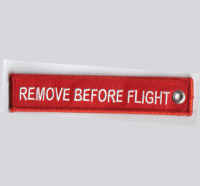 Original REMOVE BEFORE FLIGHT Schlüsselanhänger Keychain Red/white