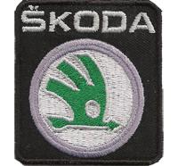 Skoda Fabia Octavia Yeti Superb Kopfstützen Sitzbezug Aufnäher Aufbügler