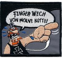 Finger weg Kutte Werner Beinhart Rockerbilly Biker Fun Aufnäher Abzeichen