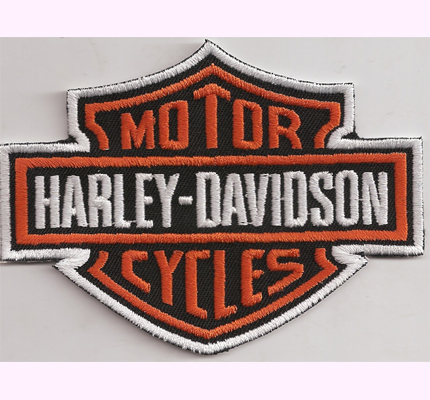 HARLEY DAVIDSON Motorcycle Chopper Custombike Patch Aufnäher small