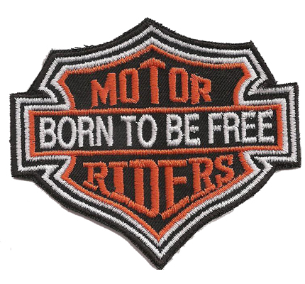 Motor Riders Born to be Free Chopper Harley Davidson Biker Aufnäher