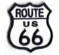 Legendary Route 66 Harley Davidson Biker Chopper Schild Aufnäher Patch