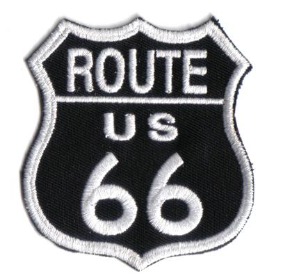 Route 66 Legendary Harley Davidson Biker Schild BLACK Rider Aufnäher