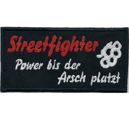 Streetfighter Street Fighter Power bis der Arsch platzt - GSXR Bandit Aufnäher