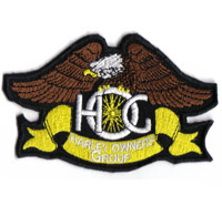 Harley Davidson Owners Group  HOG Chapter Biker Gremium Aufnäher Patch