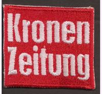 ÖSV KRONEN ZEITUNG Austria Ski Team für Schal Haube Patch Aufnäher