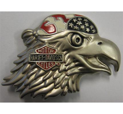 American Eagle Harley Davidson Biker Metall Plakette Anstecker Button Ansteckpin