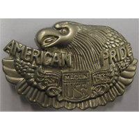 American Pride Screaming Eagle Adler USA Biker Metall Plakette Anstecker Ansteckpin