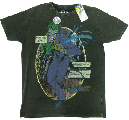 The Joker Batman Dark Knight Warner Bros Vintage Comic T-Shirt limited Edition