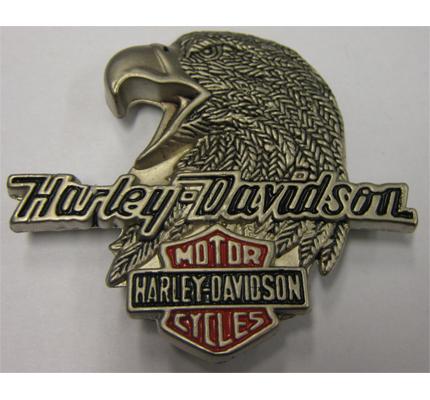 Harley Davidson American Eagle Biker Metall Plakette Anstecker Button Ansteckpin