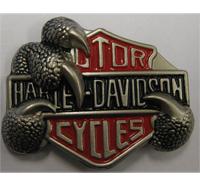 Harley Davidson Eagle Claw Biker Metall Plakette Anstecker Button Ansteckpin L