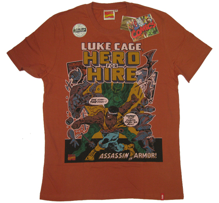 ?Luke Cage? Hero for Hire Assassin Vintage Marvel Comics T-Shirt limited Edition