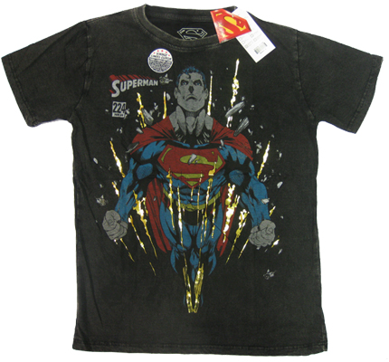 Superman 224Gold Warner Bros Vintage Comic Retro T-Shirt tshirt limited Edition