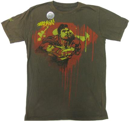 Superman Grafity Warner Bros Vintage Comic Retro T-Shirt tshirt limited Edition
