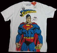 SUPERMAN ZAP ZIP Warner Bros Vintage Comic Retro T-Shirt tshirt limited Edition